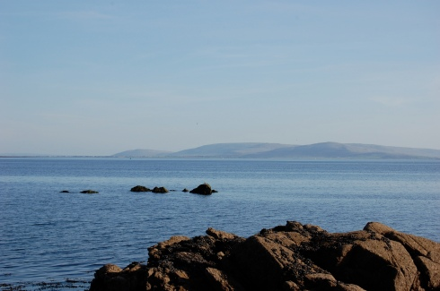 Beautiful Galway Bay on a sunny afternoon.